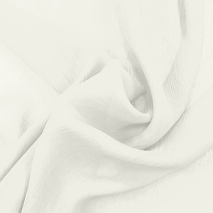 SILK CHIFFON CRINKLES - WHISPER WHITE [CCP502]