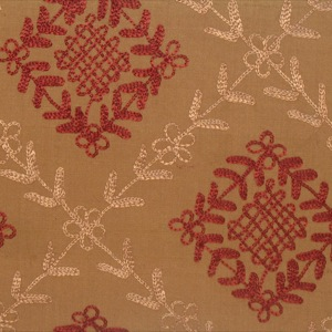 Dupioni medium embroidered