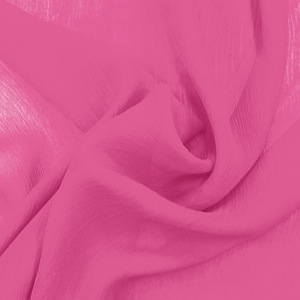 SILK CHIFFON CRINKLES - CARMINE ROSE [CCP518]