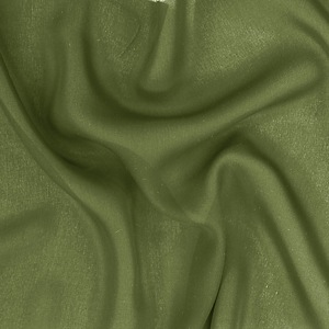 SILK DOUBLE GEORGETTE SOLIDS - PESTO [DGP540]