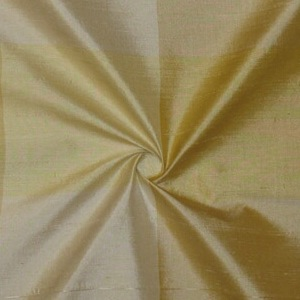 SILK DUPIONI PLAIDS - Y.MIST BLUSH LIGHT YELLOW [DMP459]