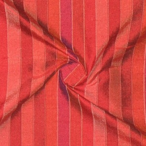 SILK DUPIONI STRIPES - MIX BERRY [DMST124]