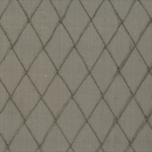 SILK DUPIONI EMBROIDERED - DUSTY BROWN [EMB764]