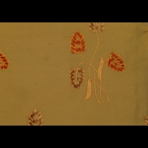 SILK DUPIONI EMBROIDERED-HEAVY - AUTUMN FIELD [EMBH155]