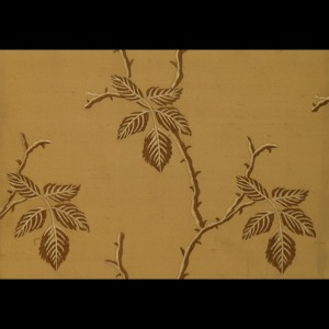 SILK DUPIONI EMBROIDERED-HEAVY - CARAMEL [EMBH161]