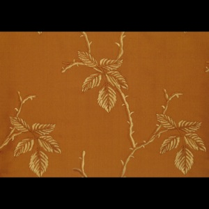 SILK DUPIONI EMBROIDERED-HEAVY - OLD GOLD [EMBH165]
