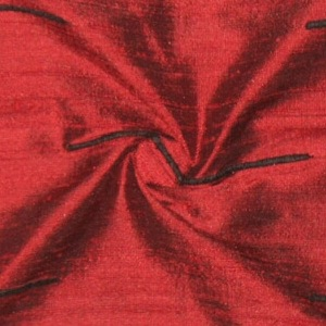 SILK DUPIONI EMBROIDERED-LIGHT - WINE [EMBL169]