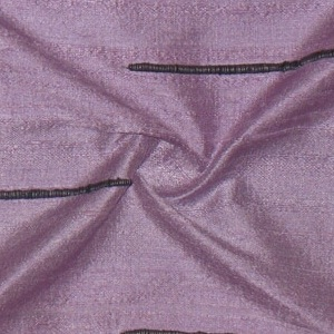 SILK DUPIONI EMBROIDERED-LIGHT - LILAC  [EMBL191]