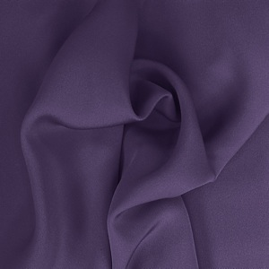 SILK FOUR PLY CREPE SOLIDS - GOTHIC GRAPE [FCP557]