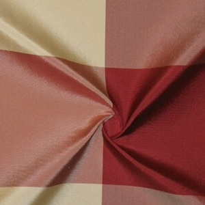 SILK TAFFETA PLAIDS - BUFFALO PLD BRGNDY/ECRU/F BURG [TFP311]