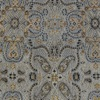 SILK BROCADE PATTERNED - SUNFLOWER BLUE GOLD [BR713]