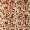 SILK BROCADE PATTERNED - GOLDEN RED  [BR721]