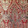 SILK BROCADE PATTERNED - RUSTIC RED  [BR722]