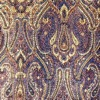 SILK BROCADE PATTERNED - GOLDEN PLUM [BR726]