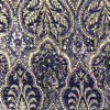 SILK BROCADE PATTERNED - DEEP PURPLE [BR727]