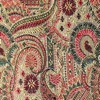 SILK BROCADE PATTERNED - SMOKE RED [BR736]