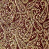 SILK BROCADE PATTERNED - MAROON GOLD [BR739]