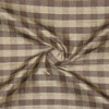SILK DUPIONI PLAIDS - GINGHAM M.SMOKE/B.PLUM [DMP470]
