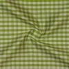 SILK DUPIONI PLAIDS - GINGHAM CHK LIME/WHITE [DMP528]