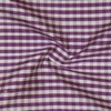 SILK DUPIONI PLAIDS - GINGHAM CHK PURPLE/WHT [DMP531]