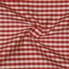 SILK DUPIONI PLAIDS - GINGHAM CHK RED/WHITE  [DMP534]