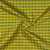 SILK DUPIONI PLAIDS - GINGHAM CHK GREEN/GOLD [DMP535]