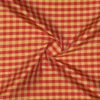 SILK DUPIONI PLAIDS - GINGHAM CHK RED/GOLD [DMP539]