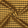SILK DUPIONI PLAIDS - GINGHAM CHK GOLD/BLACK [DMP545]