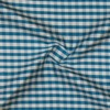 SILK DUPIONI PLAIDS - GINGHAM CHK BLUE/WHITE [DMP547]