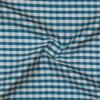 SILK DUPIONI PLAIDS - GINGHAM CHK BLUE/WHITE [DMP547]