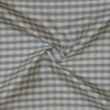 SILK DUPIONI PLAIDS - GINGHAM CHK GREY/WHITE [DMP550]