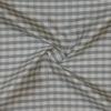 SILK DUPIONI PLAIDS - GINGHAM CHK GREY/WHITE [DMP550]
