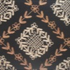 SILK DUPIONI EMBROIDERED-MED - BLACK MIST [EMBM933]