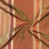 SILK TAFFETA STRIPES - VER STRP BERRY/BROWN  [TFS531]