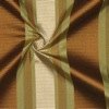 SILK TAFFETA STRIPES - VER STRP GRN/TAN/COFFE [TFS533]